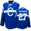Reebok Montreal Canadiens 27 Men's Alex Galchenyuk Authentic Blue Third NHL Jersey