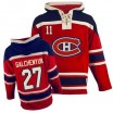 Old Time Hockey Montreal Canadiens 27 Men's Alex Galchenyuk Authentic Red Sawyer Hooded Sweatshirt NHL Jersey