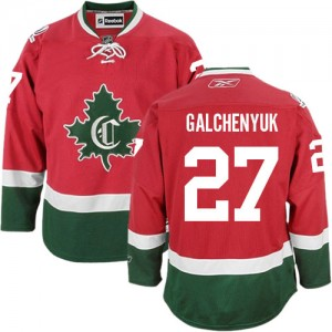 Reebok Montreal Canadiens 27 Men's Alex Galchenyuk Authentic Red New CD Third NHL Jersey