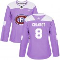 Adidas Montreal Canadiens Women's Ben Chiarot Authentic Purple Fights Cancer Practice NHL Jersey