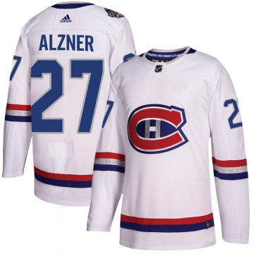 Adidas Montreal Canadiens Men's Karl Alzner Authentic White 2017 100 Classic NHL Jersey