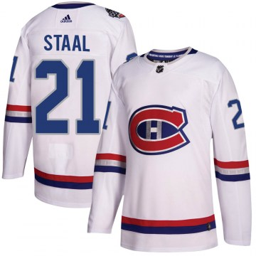 Adidas Montreal Canadiens Youth Eric Staal Authentic White 2017 100 Classic NHL Jersey