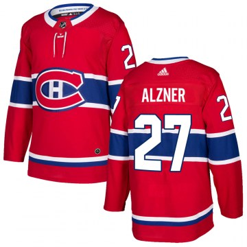 Adidas Montreal Canadiens Youth Karl Alzner Authentic Red Home NHL Jersey