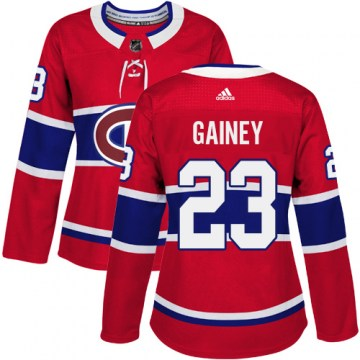 Adidas Montreal Canadiens Women's Bob Gainey Authentic Red Home NHL Jersey